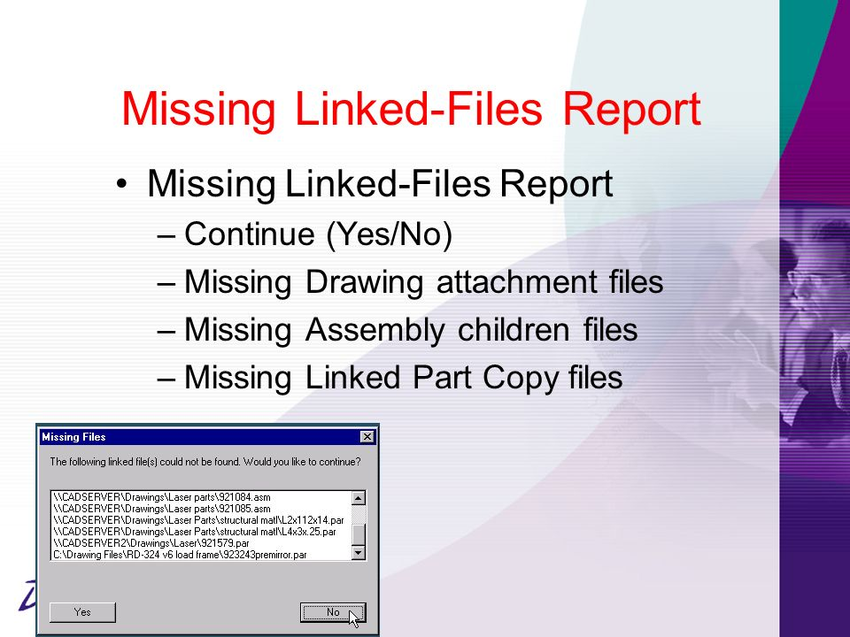 Missing Linked-Files Report