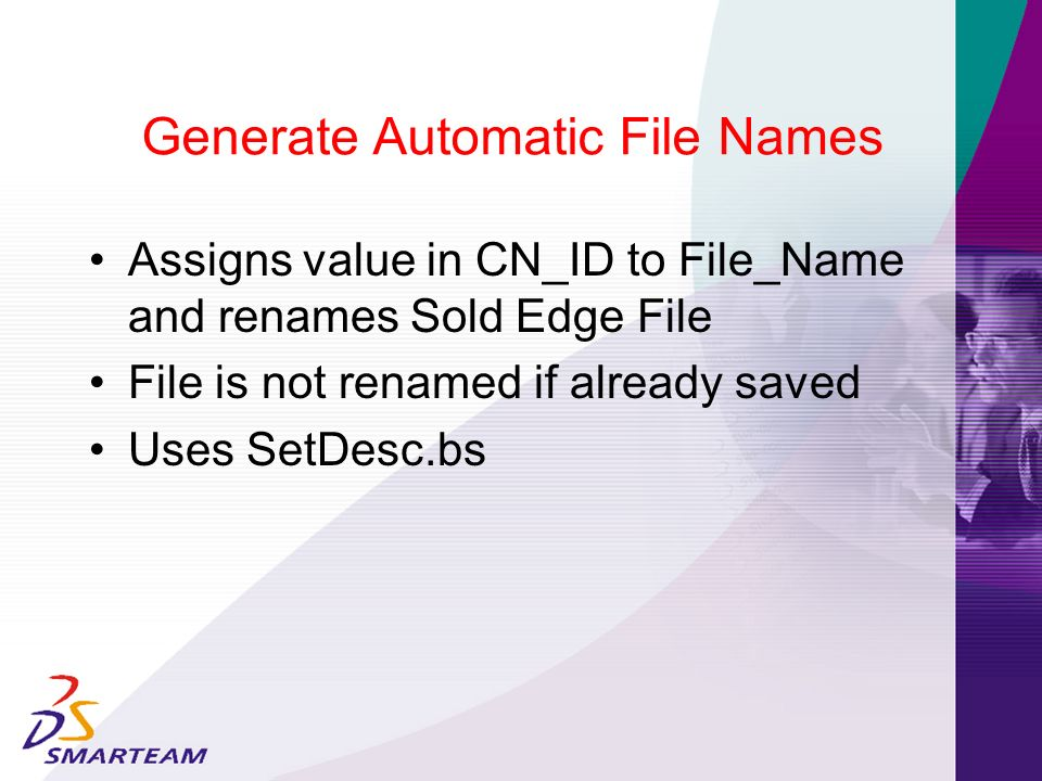 Generate Automatic File Names