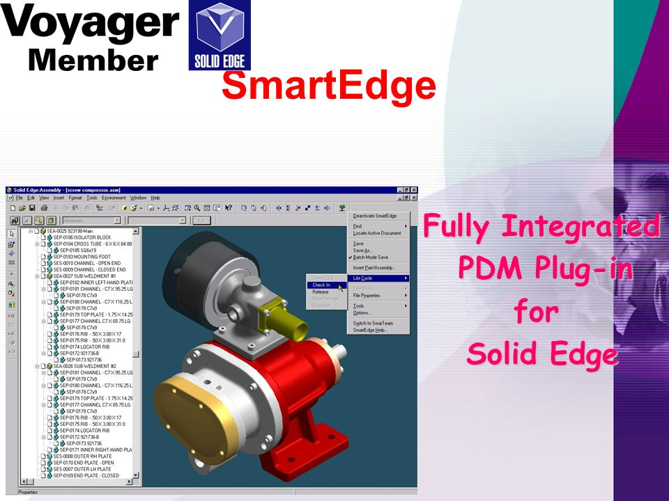 SmartEdge Fully Integrated PDM Plug-in for Solid Edge