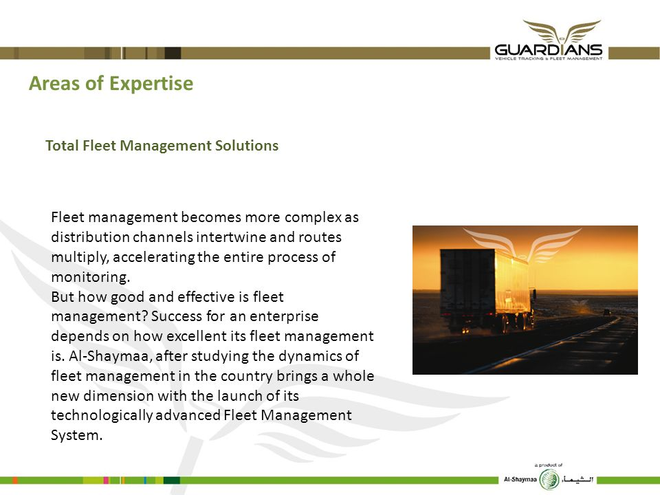 Areas of Expertise Total Fleet Management Solutions