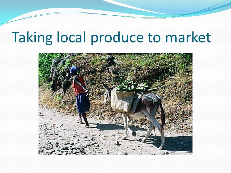 Taking local produce to market