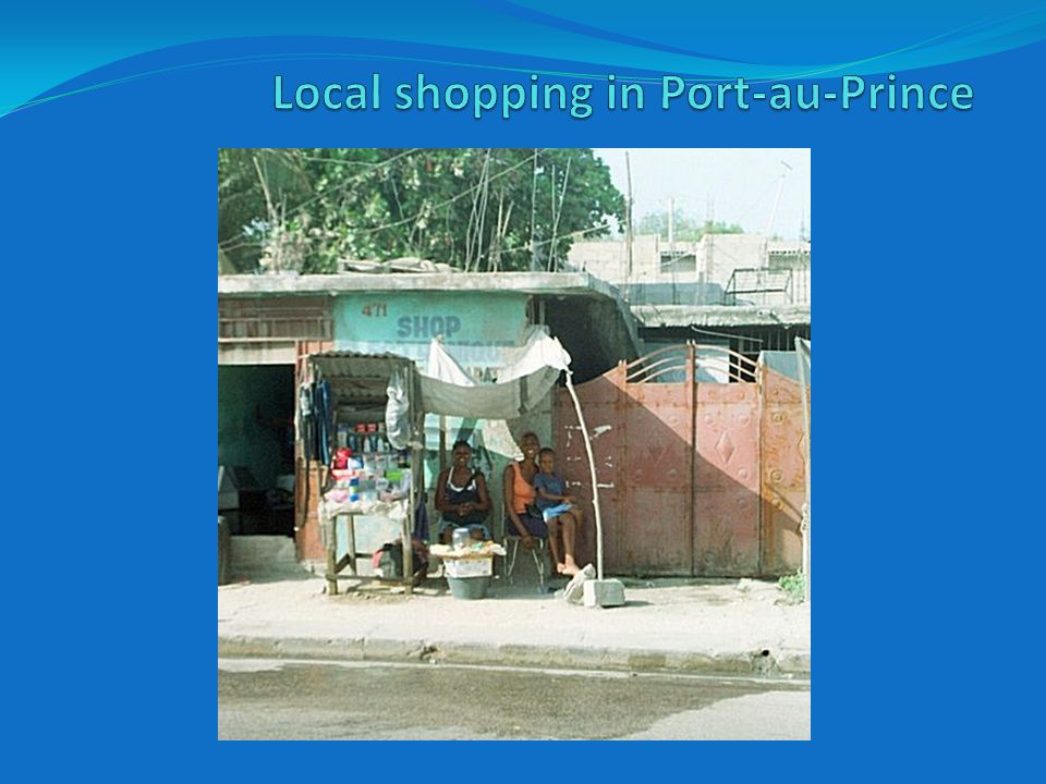 Local shopping in Port-au-Prince