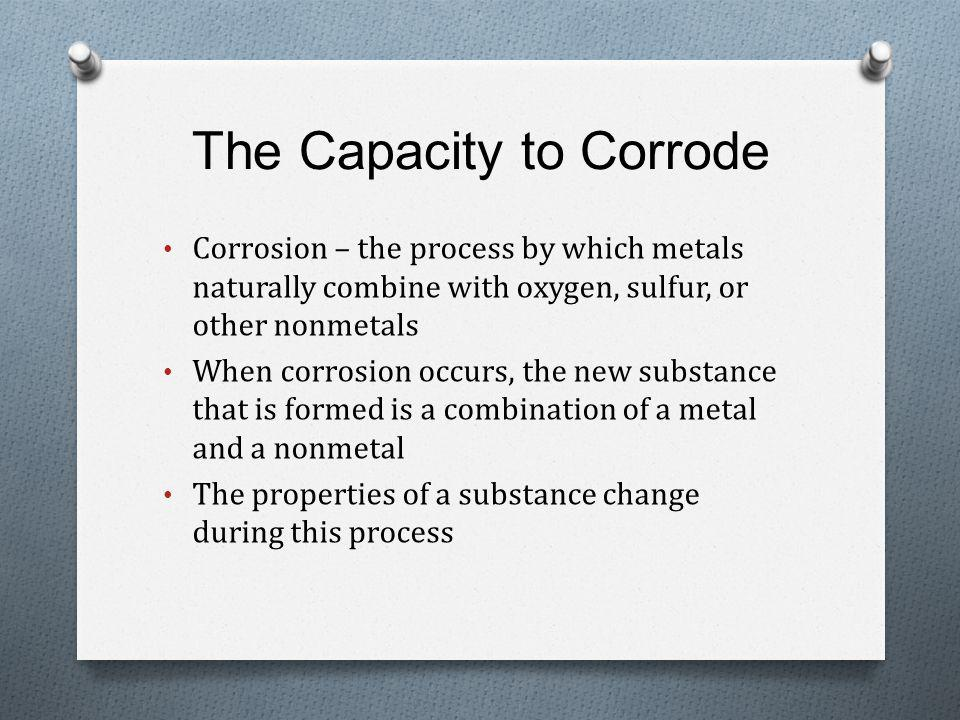 The Capacity to Corrode