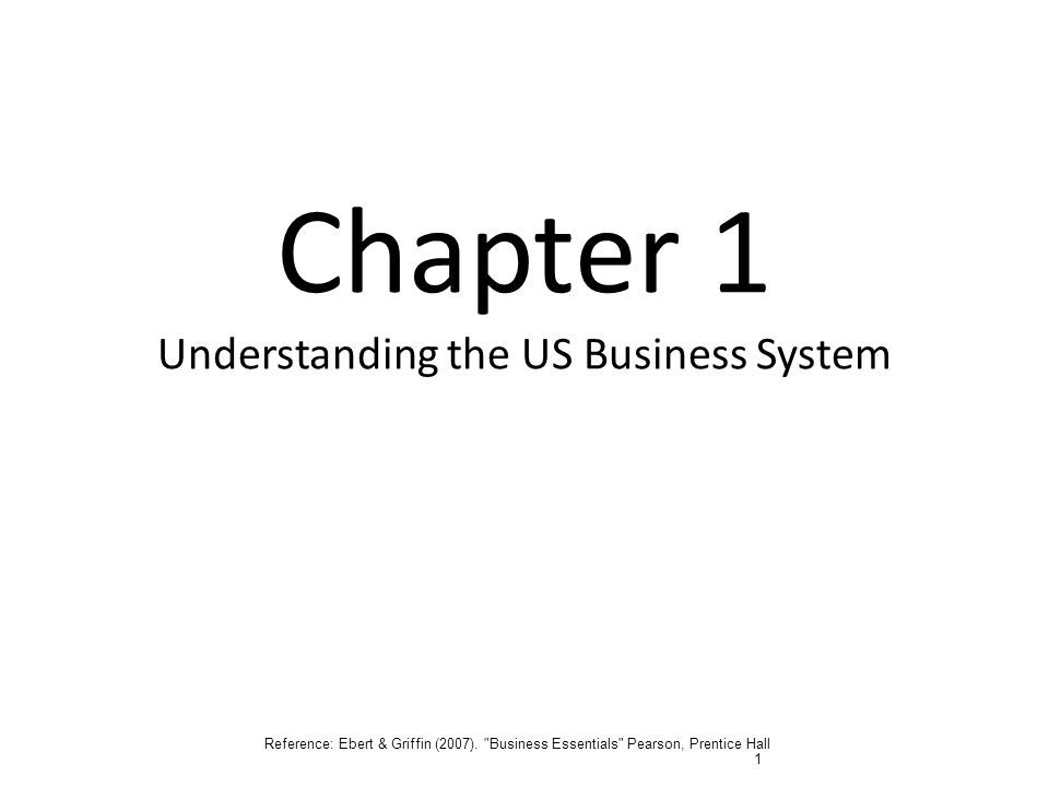 Chapter 1 Understanding the US Business System