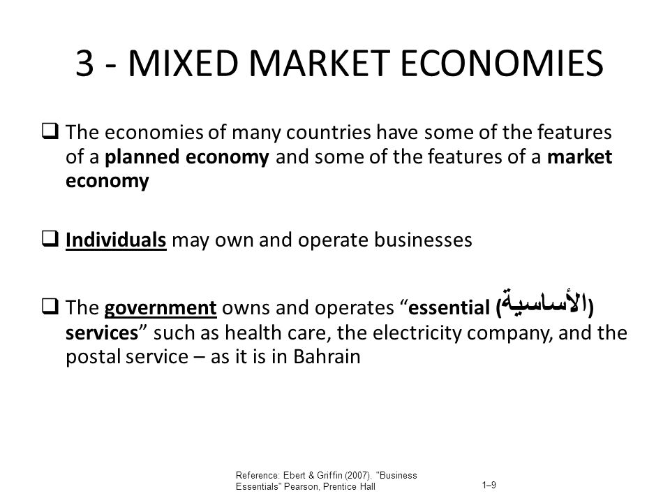 3 - MIXED MARKET ECONOMIES