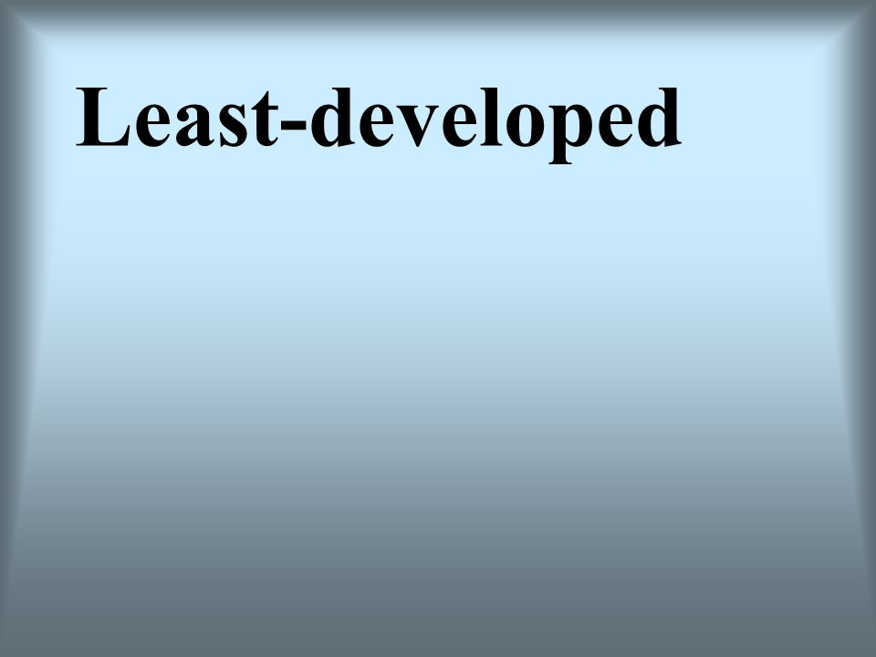 Least-developed