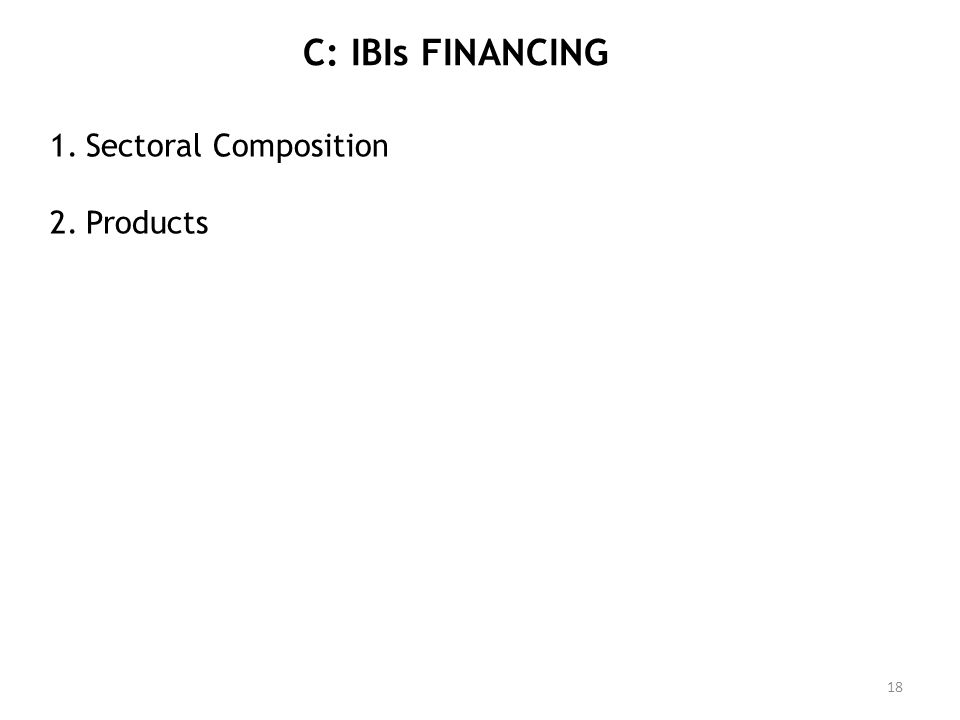 C: IBIs FINANCING Sectoral Composition Products