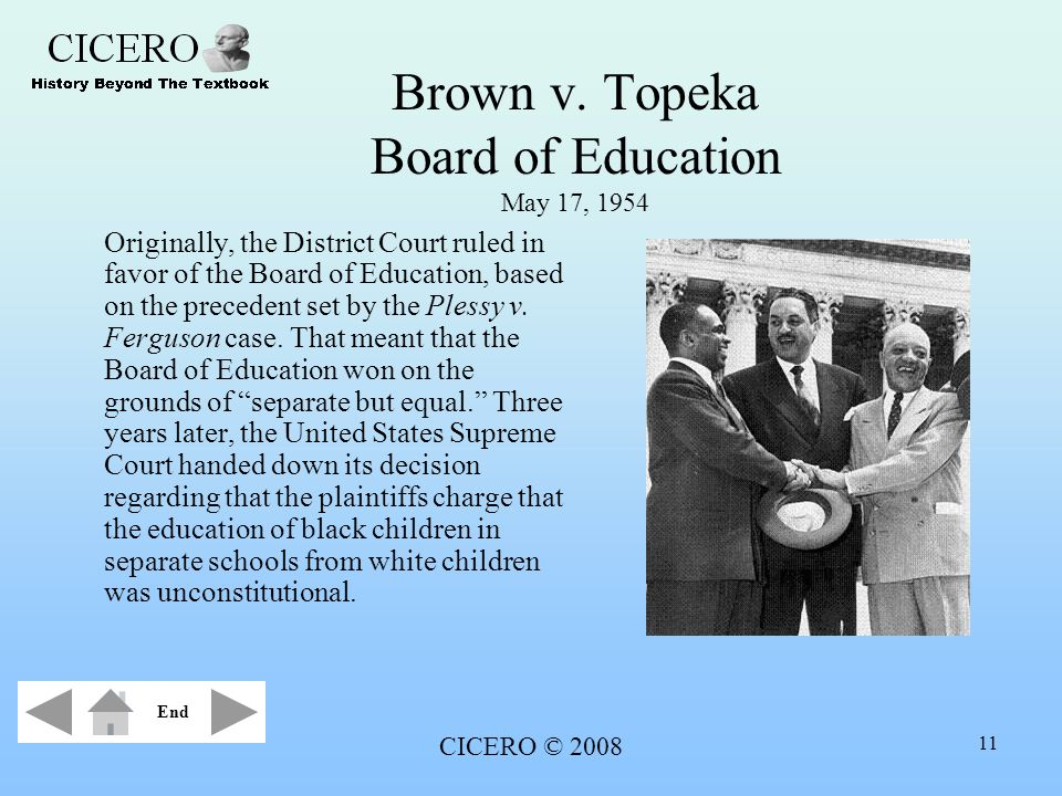 Brown v. Topeka Board of Education May 17, 1954
