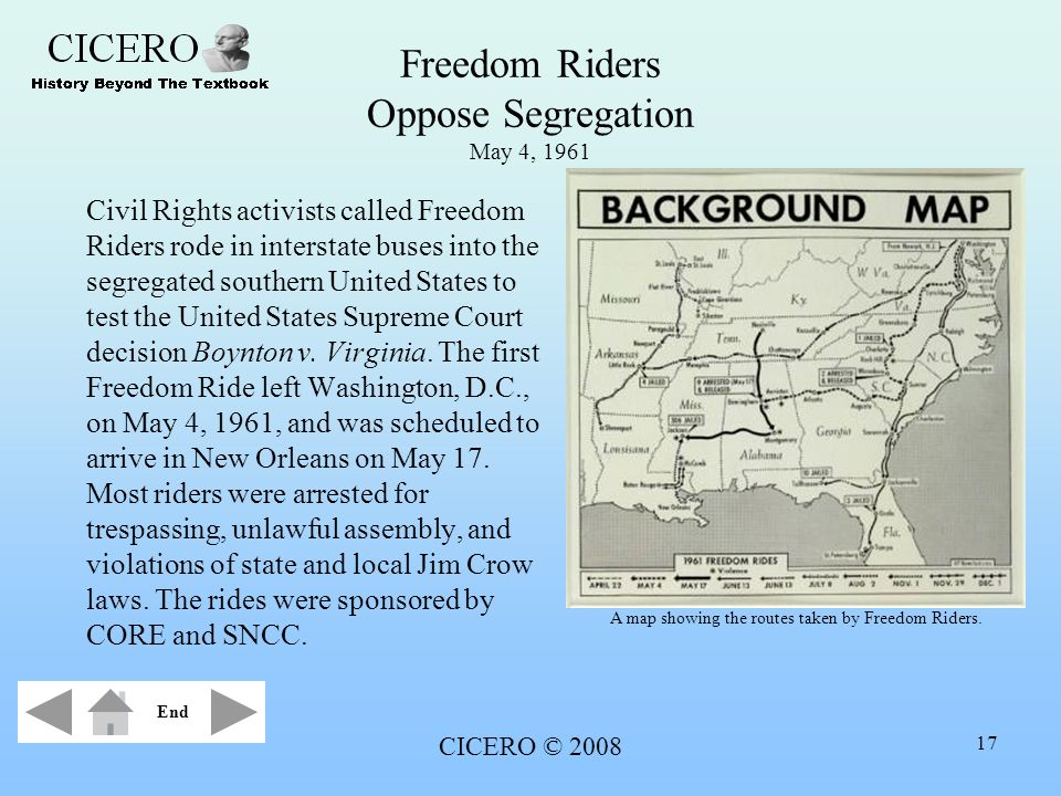 Freedom Riders Oppose Segregation May 4, 1961