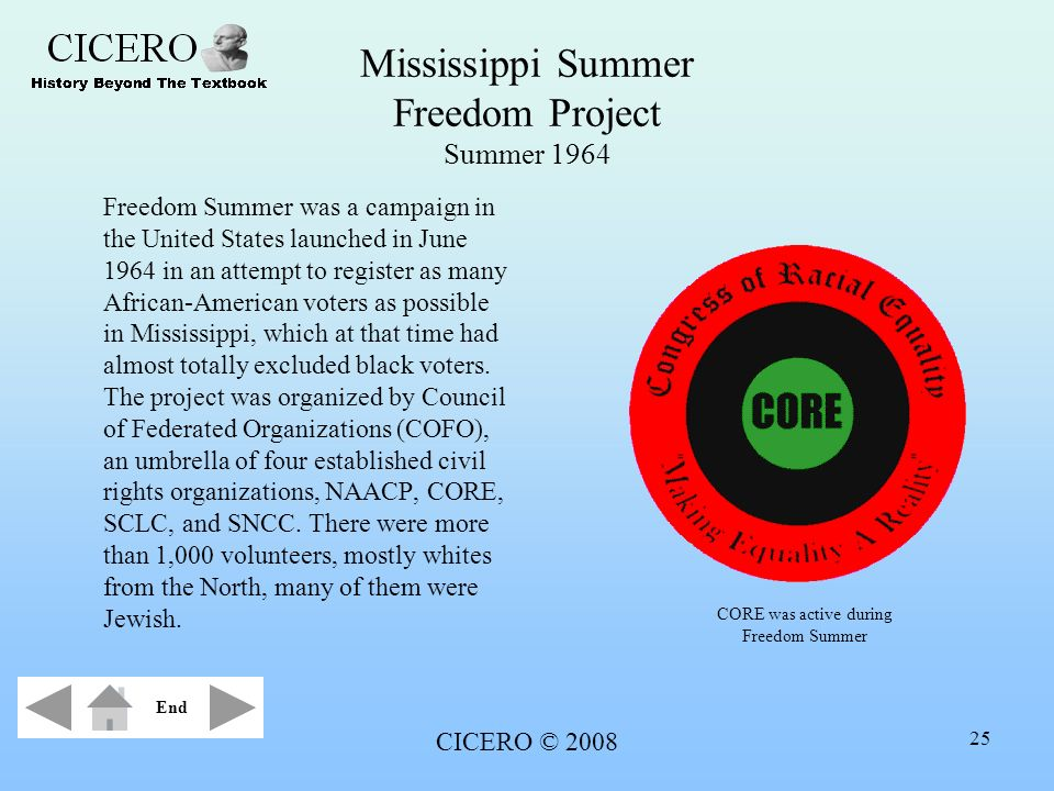 Mississippi Summer Freedom Project Summer 1964