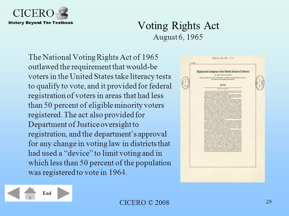 Voting Rights Act August 6, 1965