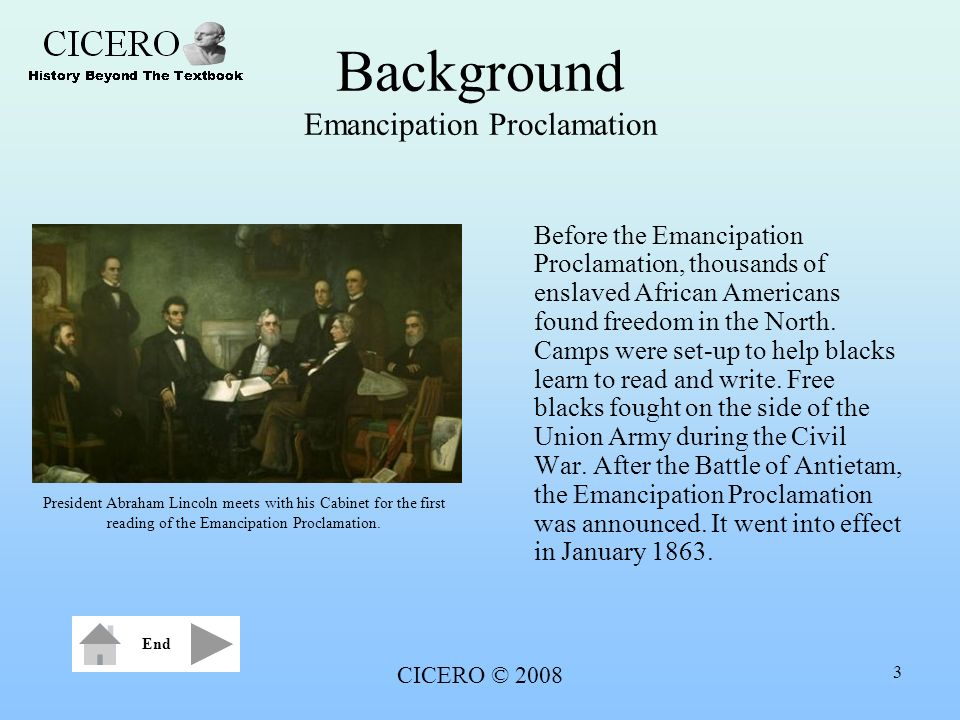 Background Emancipation Proclamation