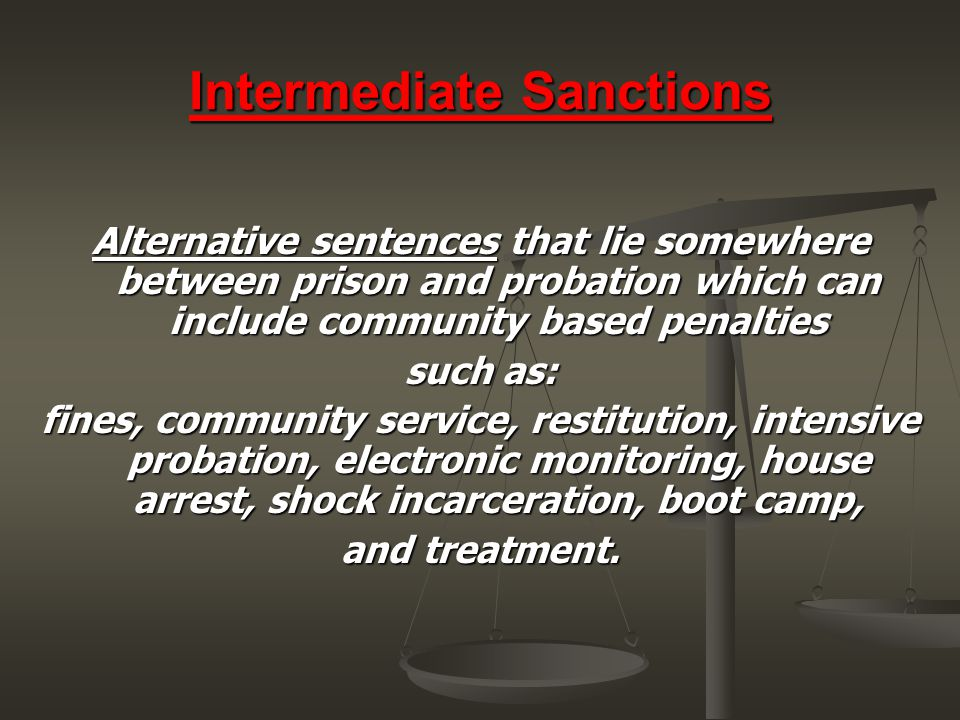 Intermediate Sanctions