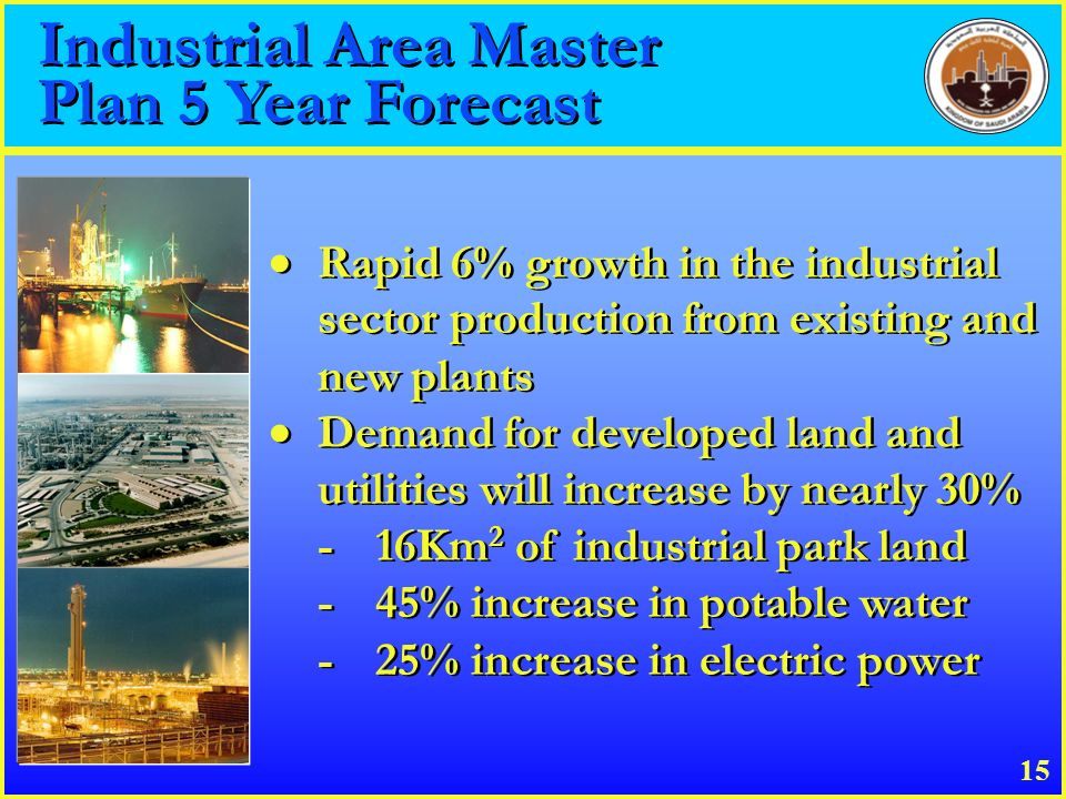 Industrial Area Master Plan 5 Year Forecast