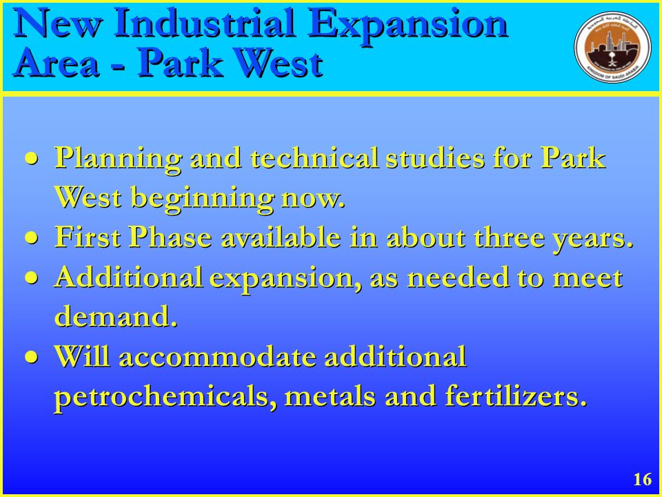 New Industrial Expansion Area - Park West