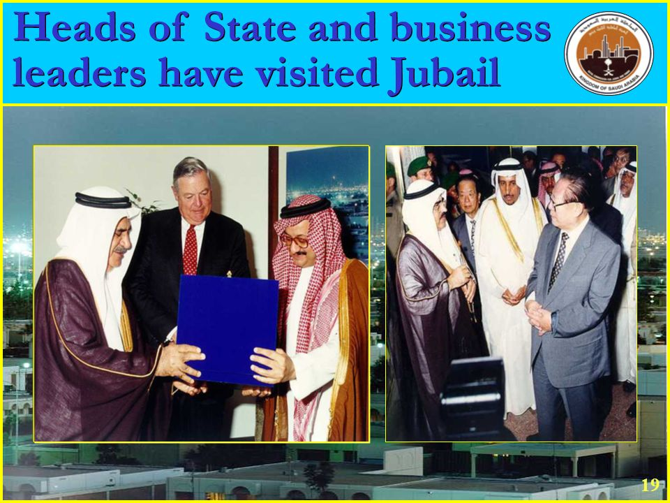 Heads of State and business leaders have visited Jubail