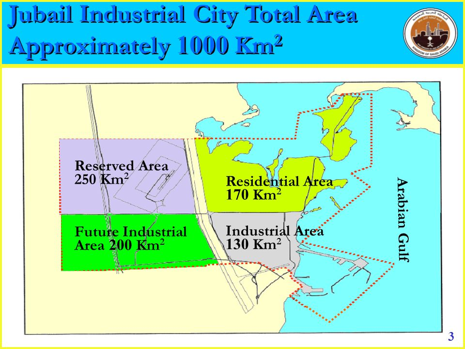 Jubail Industrial City Total Area Approximately 1000 Km2