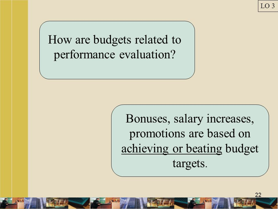 How are budgets related to performance evaluation