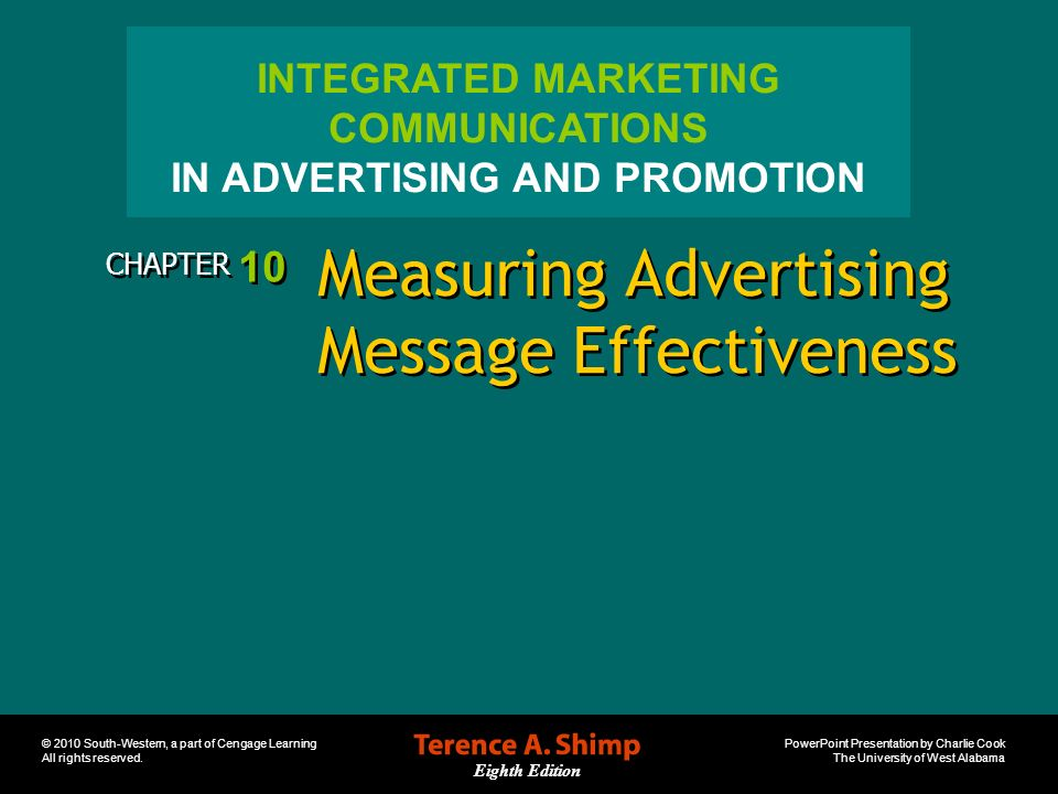 Measuring Advertising Message Effectiveness
