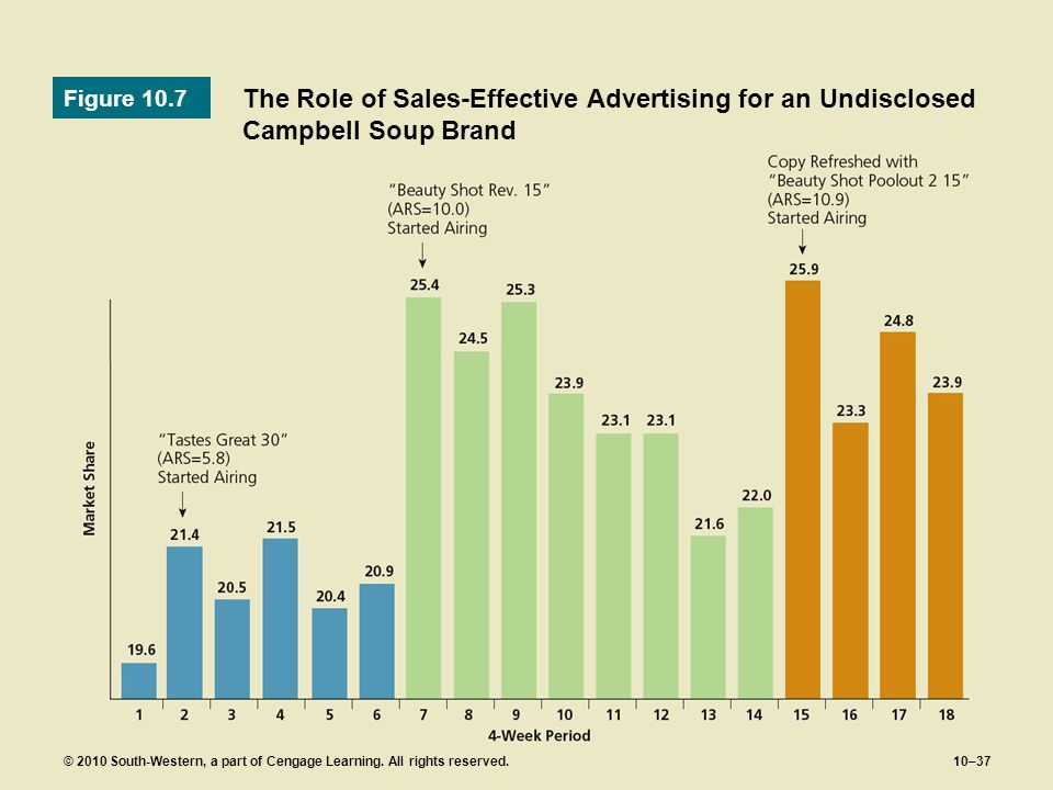 Figure 10.7 The Role of Sales-Effective Advertising for an Undisclosed Campbell Soup Brand.