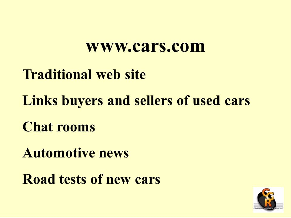 www.cars.com Traditional web site