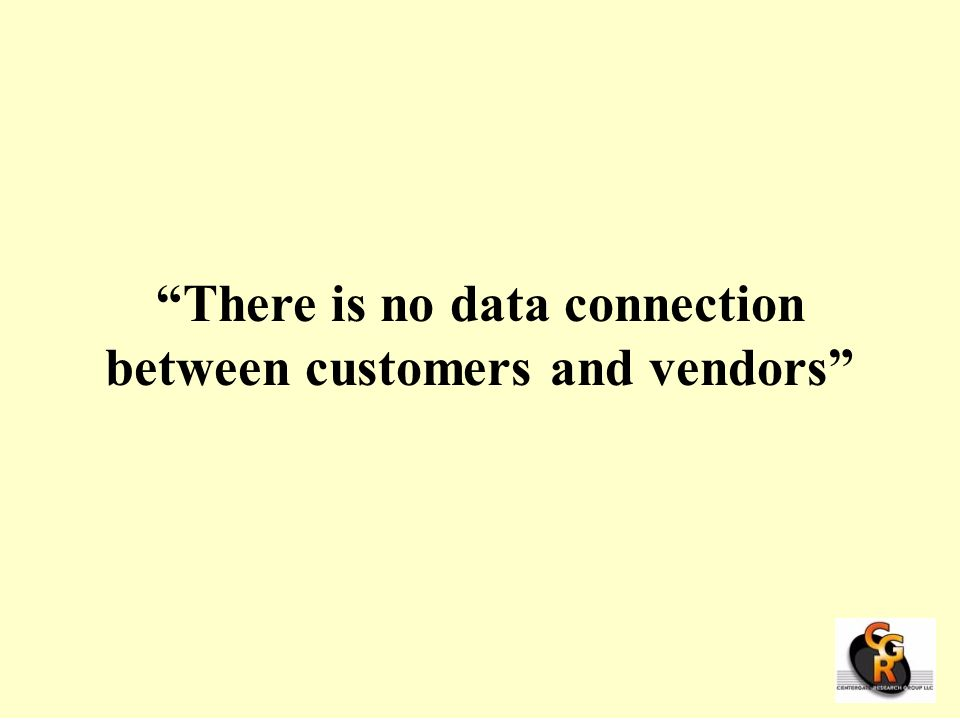 There is no data connection between customers and vendors