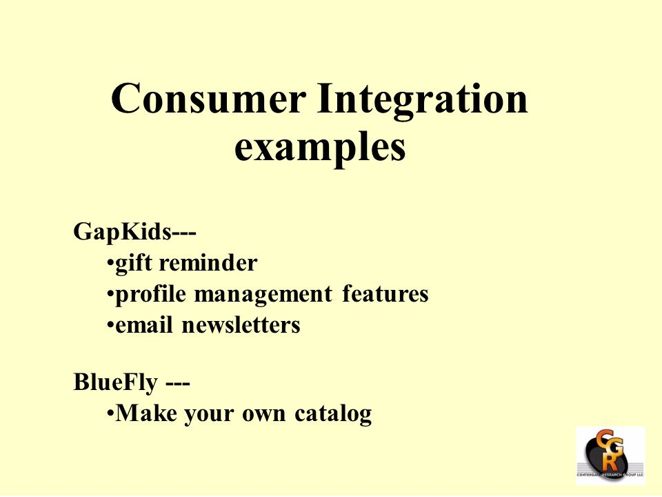 Consumer Integration examples