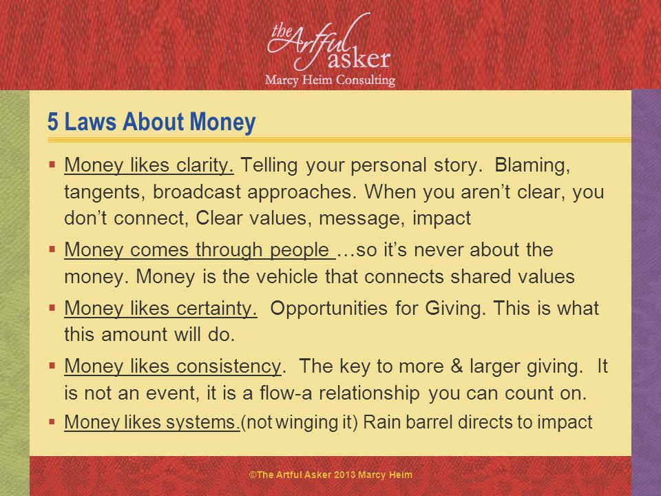 5 Laws About Money