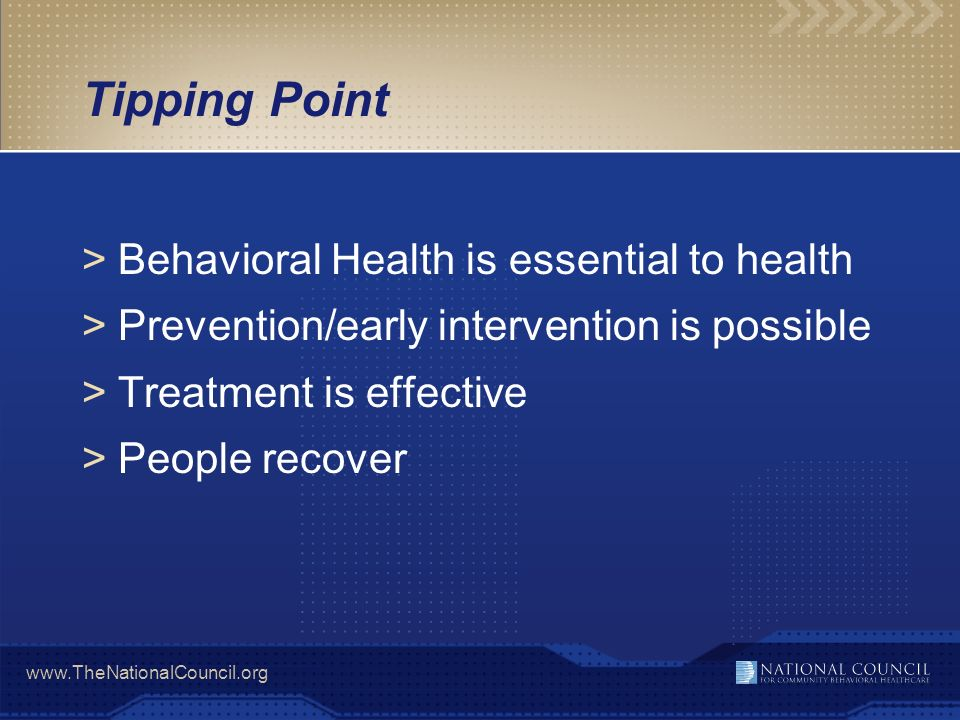 Tipping Point Behavioral Health is essential to health