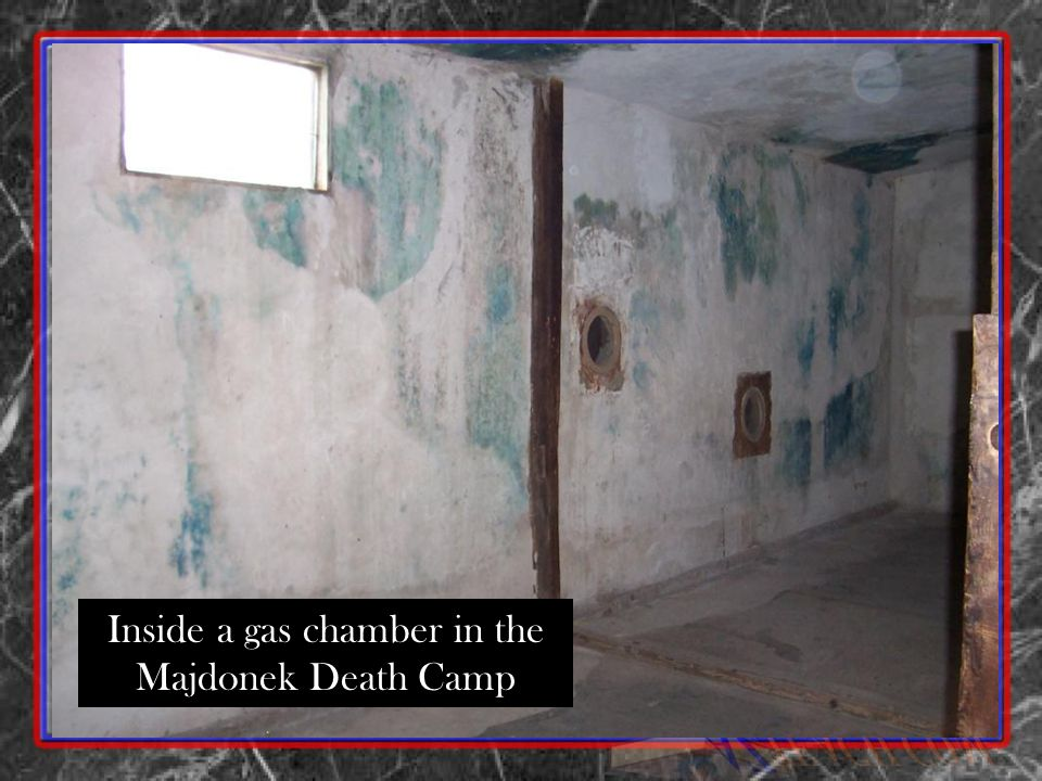 Inside a gas chamber in the Majdonek Death Camp