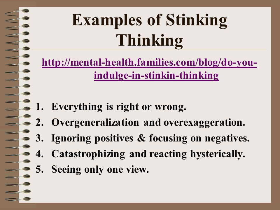 Examples of Stinking Thinking