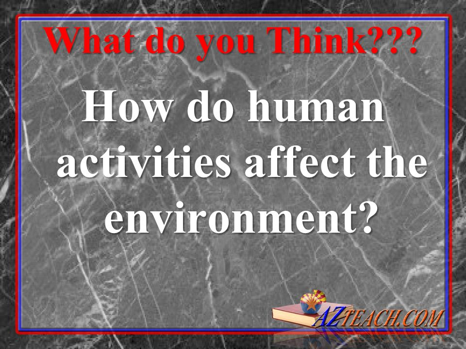 How do human activities affect the environment