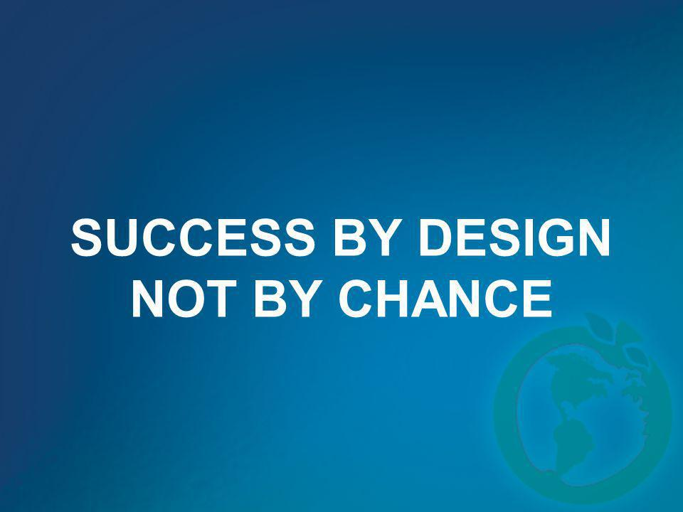 SUCCESS BY DESIGN NOT BY CHANCE