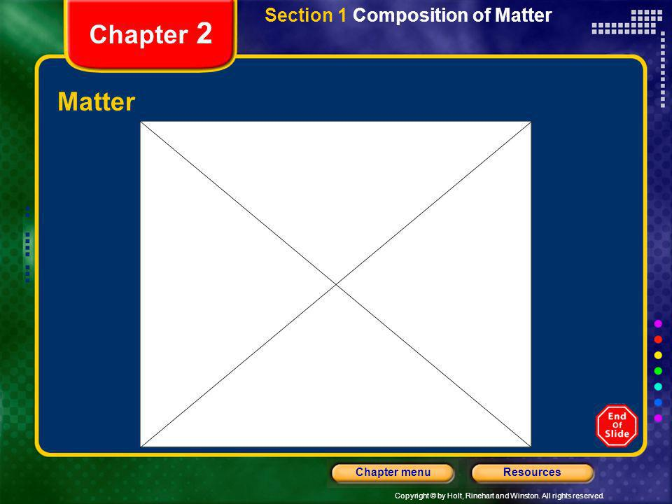 Section 1 Composition of Matter
