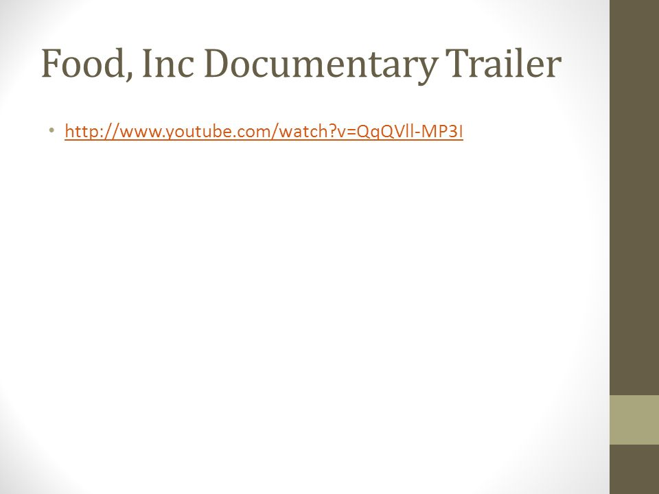 Food, Inc Documentary Trailer