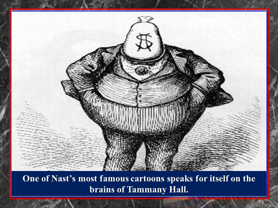One of Nast's most famous cartoons speaks for itself on the brains of Tammany Hall.