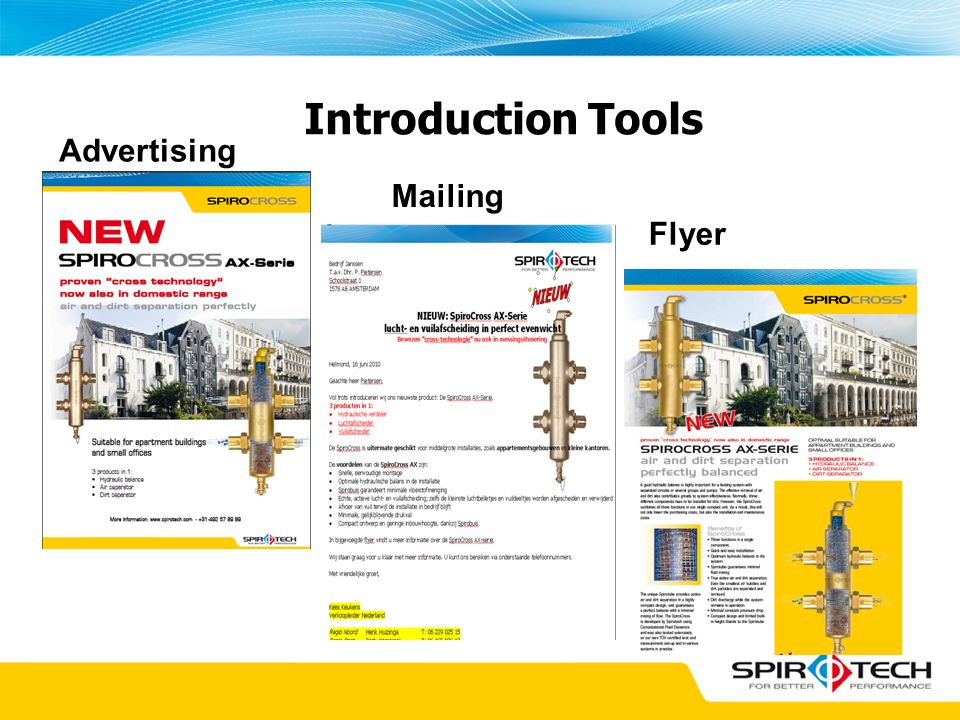 Introduction Tools Advertising Mailing Flyer