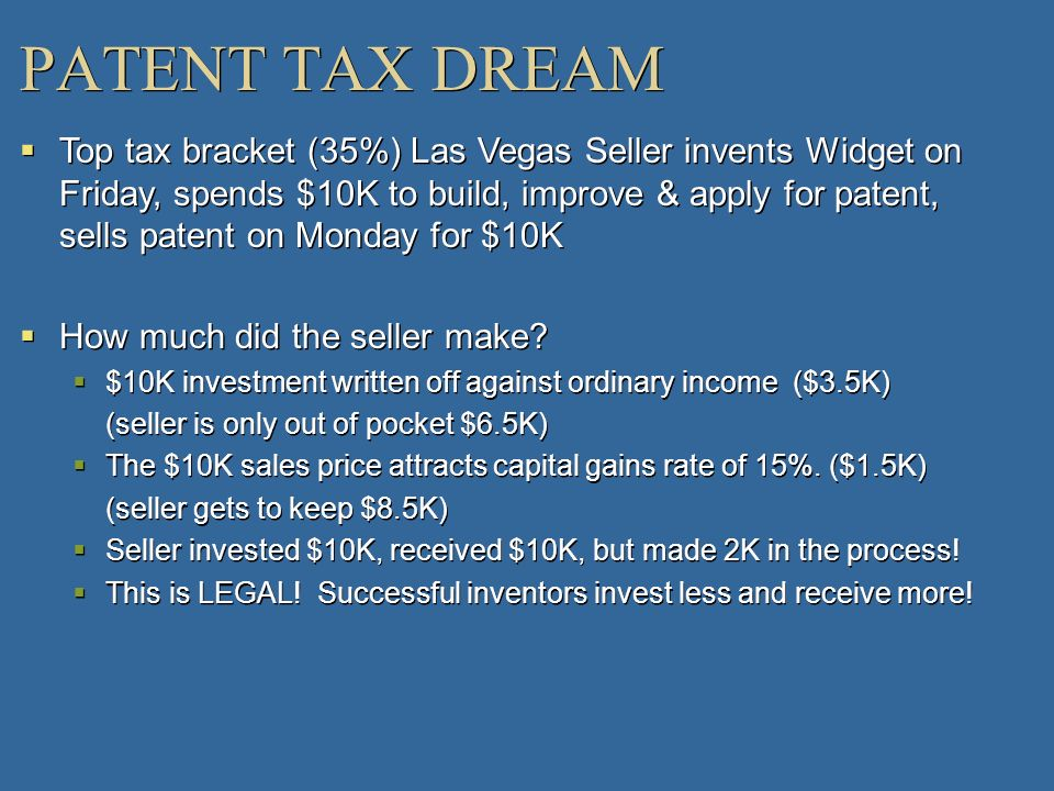 PATENT TAX DREAM