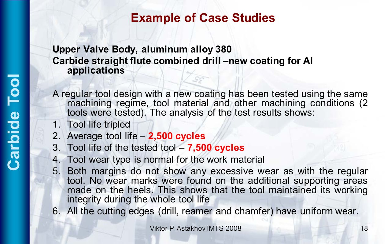 Carbide Tool Example of Case Studies