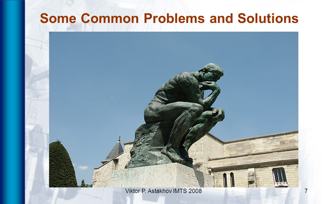 Some Common Problems and Solutions