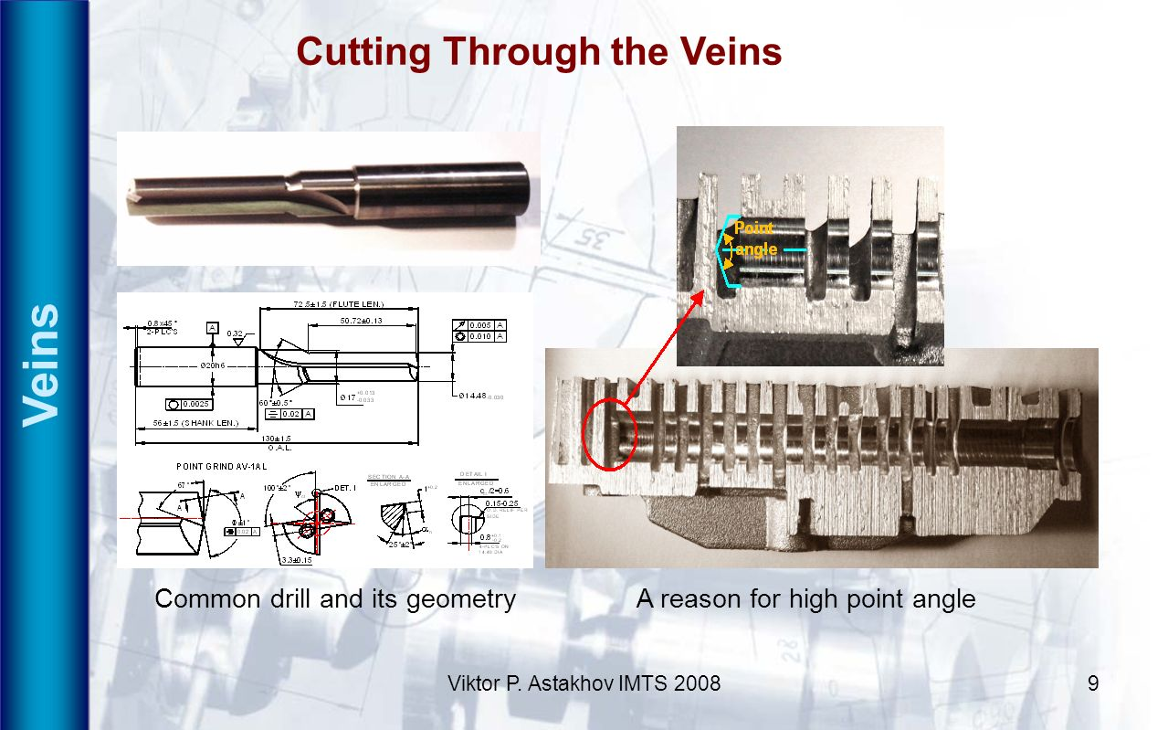 Veins Cutting Through the Veins Common drill and its geometry