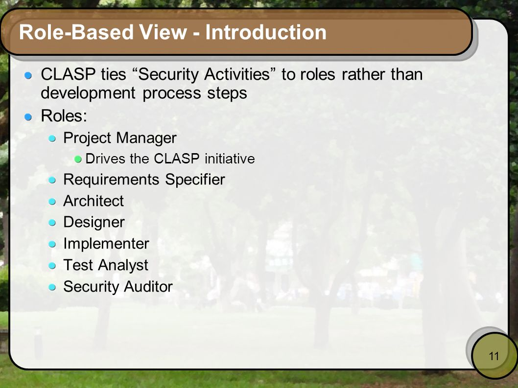 Role-Based View - Introduction