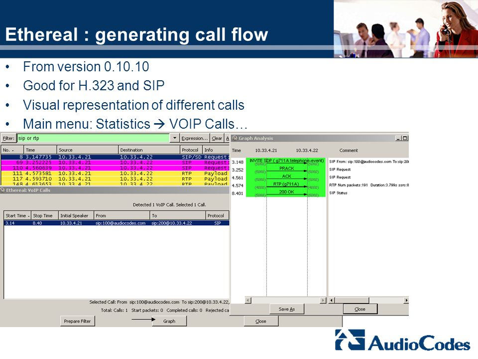 Ethereal : generating call flow