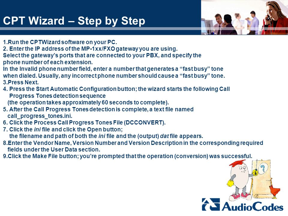 CPT Wizard – Step by Step