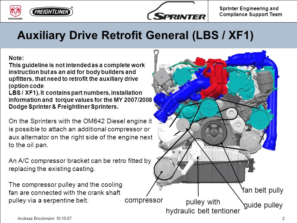 Auxiliary Drive Retrofit General (LBS / XF1)