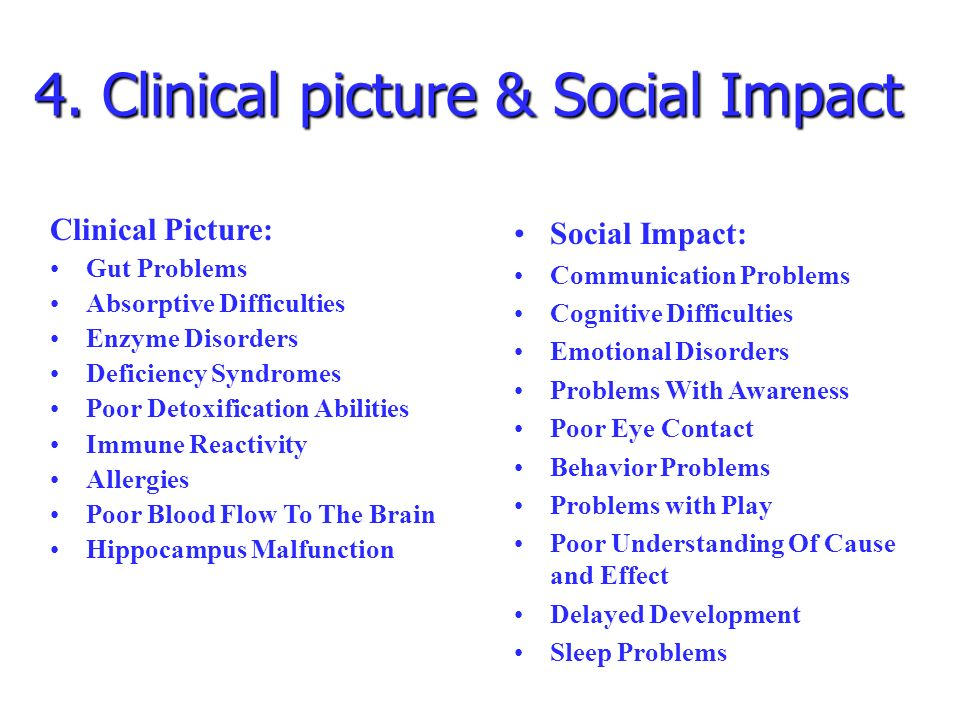 4. Clinical picture & Social Impact