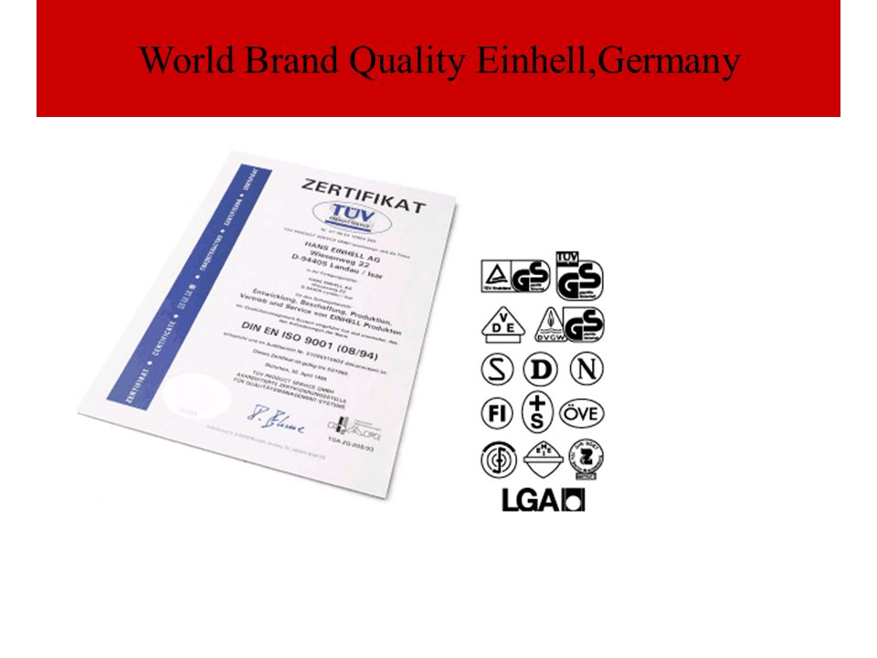 World Brand Quality Einhell,Germany