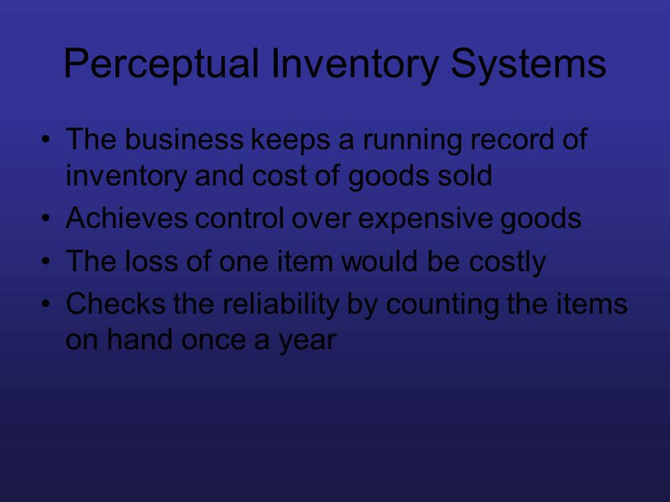 Perceptual Inventory Systems