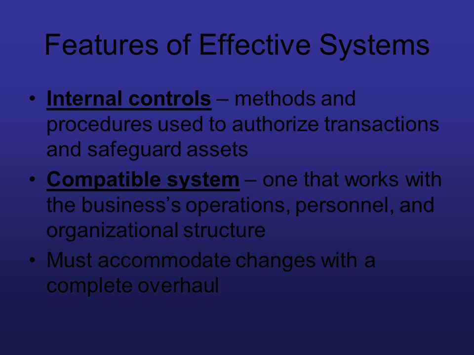 Features of Effective Systems