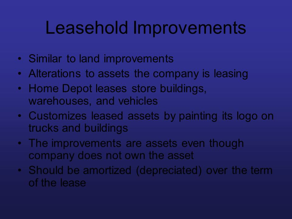 Leasehold Improvements